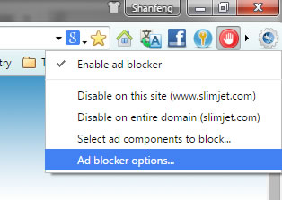 ad blocker button